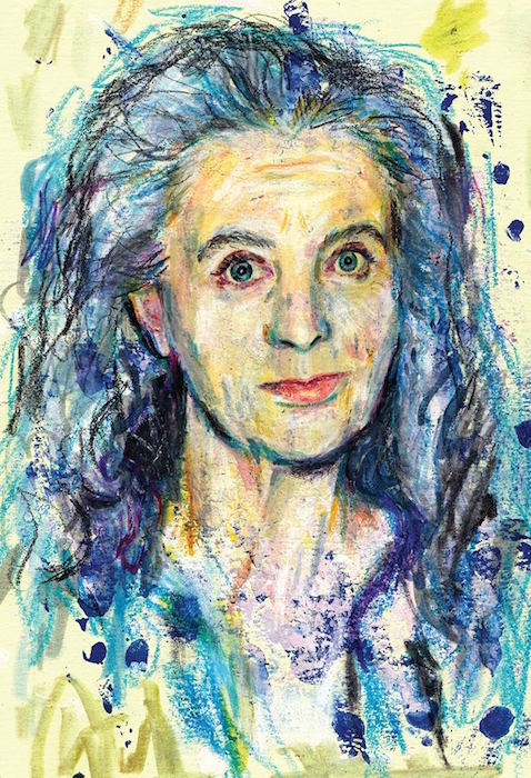 An Illustration of the Artist Kiki Smith by Miriam Ivanoff for Materialist Magazine Issue 01